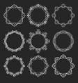 round calligraphy blackboard frames vector image vector image