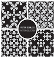 Seamless BW Geometric Pattern Collection vector image