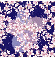 seamless pattern with sakura hand drawn spring vector image vector image