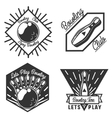 Set of bowling emblems vector image vector image