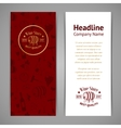 Set of business cards Templates for wine company vector image vector image