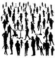 Set of People Children Adults Seniors vector image vector image