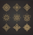 set of thai art design vector image vector image