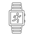 sport smartwatch icon outline style vector image vector image