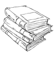 stack books doodle vector image