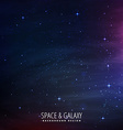 stars filled space background vector image vector image