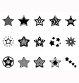 stars icon collection vector image vector image