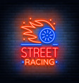 street racing logo emblem template logo in vector image
