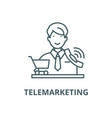 telemarketing line icon linear concept vector image vector image