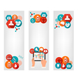 Three medical banners with colorful icons vector image