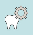 tooth and gear function of tooth dental related vector image vector image