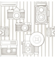 Vintage seamless pattern with camera vector | Price: 1 Credit (USD $1)