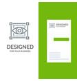 visual view sketching eye grey logo design and vector image