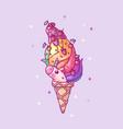 volume rainbow unicorn vector image