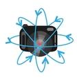Vr camera digital video function vector image