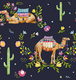 watercolor camel pattern vector image vector image