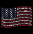 waving american flag stylization of chemistry vector image vector image