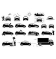 weather animal and road hazard destroy and damage vector image