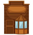 wooden shop in wester design vector image vector image