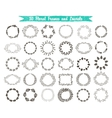 set of 30 hand drawn frames and laurels vector image