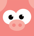 square pig face icon button vector image