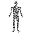 amoeba human figure vector image