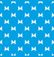 big butterfly pattern seamless blue vector image vector image