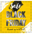 Black friday sale banner on yellow background