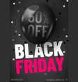 black friday sale web banner template dark vector image