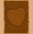 brown grunge background with heart vector image
