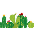 cactus icon collection set vector image vector image