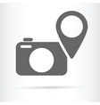 camera geo targeting icon vector image vector image