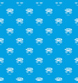 carriage pattern seamless blue vector image vector image