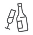 champagne line icon alcohol and drink bottle vector image vector image