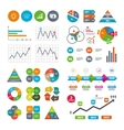 Chart with arrow brainstorm Cash money vector image vector image