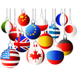 Christmas international balls vector image vector image
