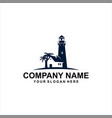 classic light house logo vector image