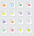 Colorful web icon set 2 vector image vector image
