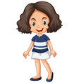 cute girl in white skirt vector image vector image