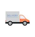 delivery truck for shipping or transportation flat vector image vector image