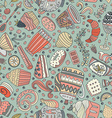 Dessert seamless pattern vector image vector image