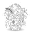 Doodle art flowers floral pattern vector image vector image