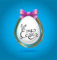 easter eggs for design of easter holidays vector image