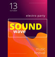 electronic music poster modern club party flyer vector image