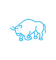 fighting bull linear icon concept fighting bull vector image
