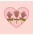 flower heart rose vector image
