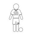 football soccer player icon design vector image vector image