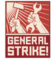 general strike poster vector image vector image