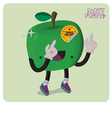 Green Apple Character Isolated vector image