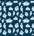 halloween ghost semless pattern vector image vector image